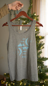 ZC Turquoise & Heather Grey Moon Icon Tank