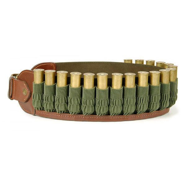 Stich Profi Taiga Open Cartridge Belt With Rubber Accordion Leather Brown