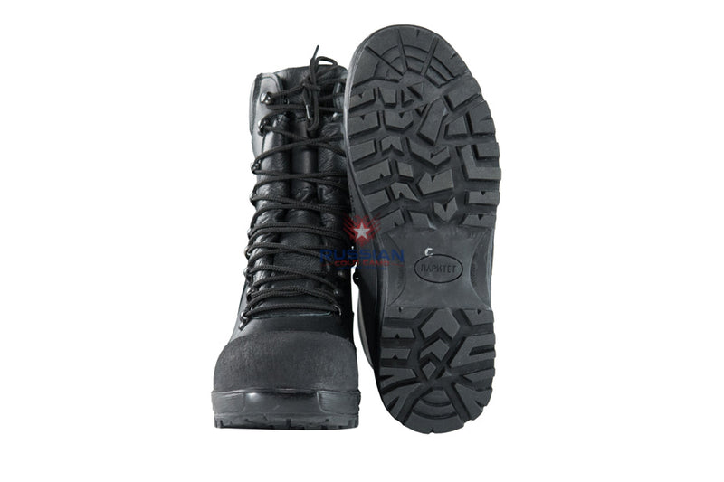 Russian Army VKPO (VKBO) Leather Winter Boots Black