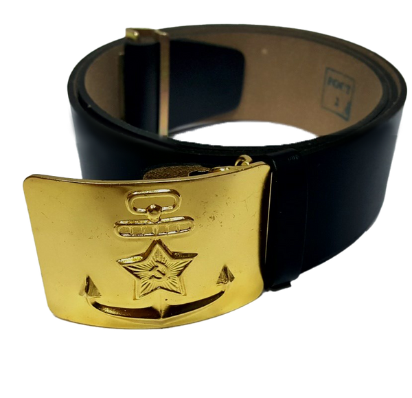 Russian Army Marine Leather Belt Black