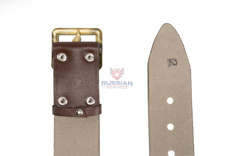Russian Army Military Air Force Emblem Leather Belt Brown