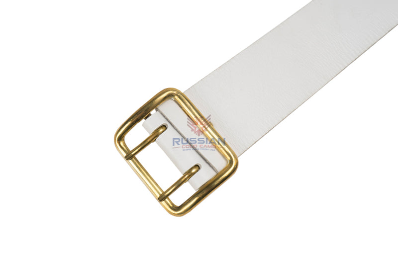 Russian Army Ceremonial Leather Belt White