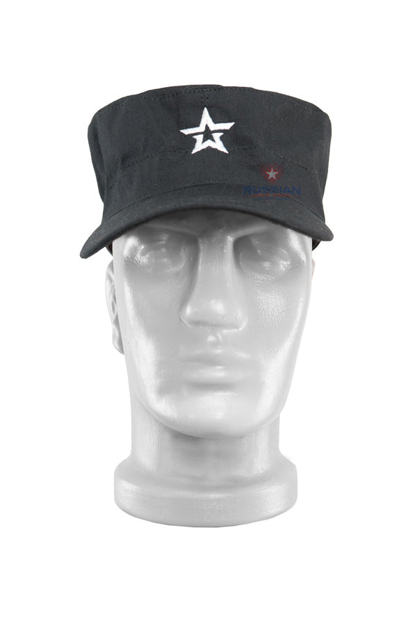 Russian Army Cap With Star Black
