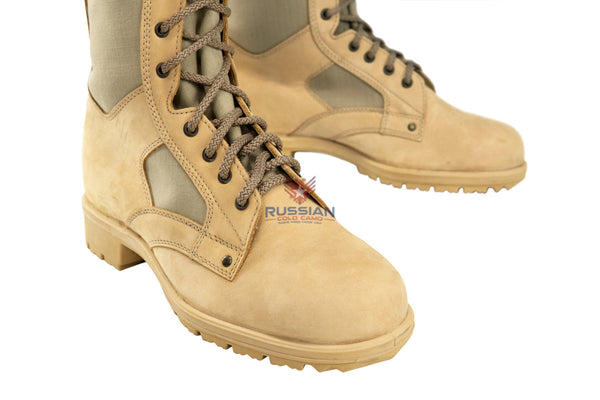 Russian Army Syria Leather Boots Beige