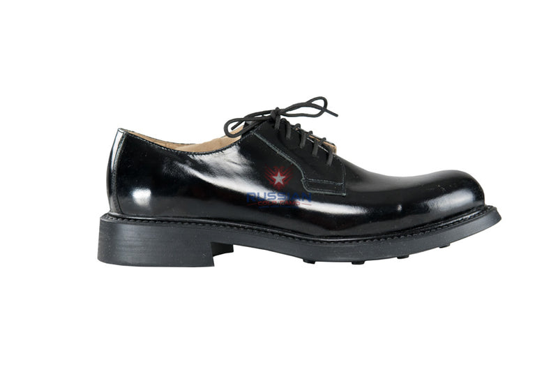 Russian Army Leather Patent Shoes Black