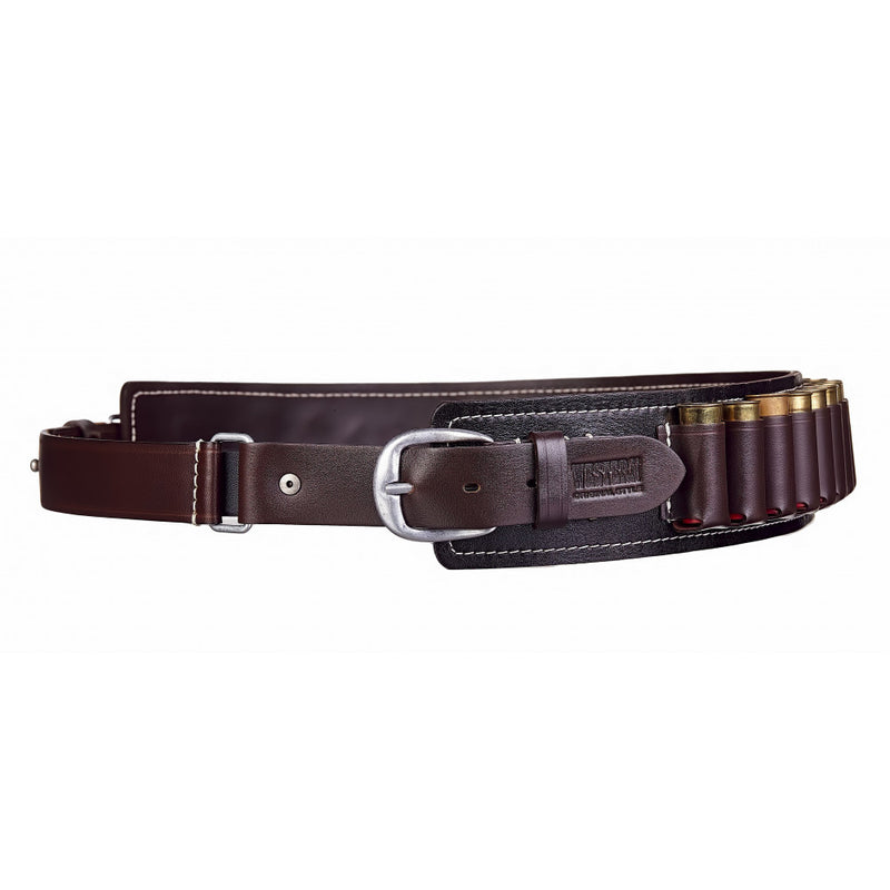 Stich Profi Western Open Cartridge Belt (12-16 Gauge) Leather Black
