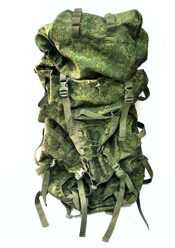 Russian Army Military Mountaineering Backpack 80+20L EMR (Digital Flora)