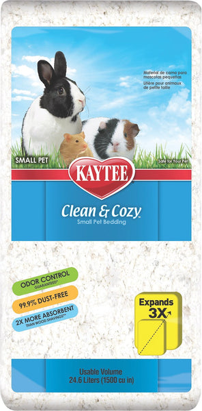 KT Clean & Cozy Bedding White 24.6L for small animals