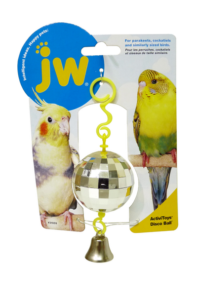 Disco Ball Budgie Toy