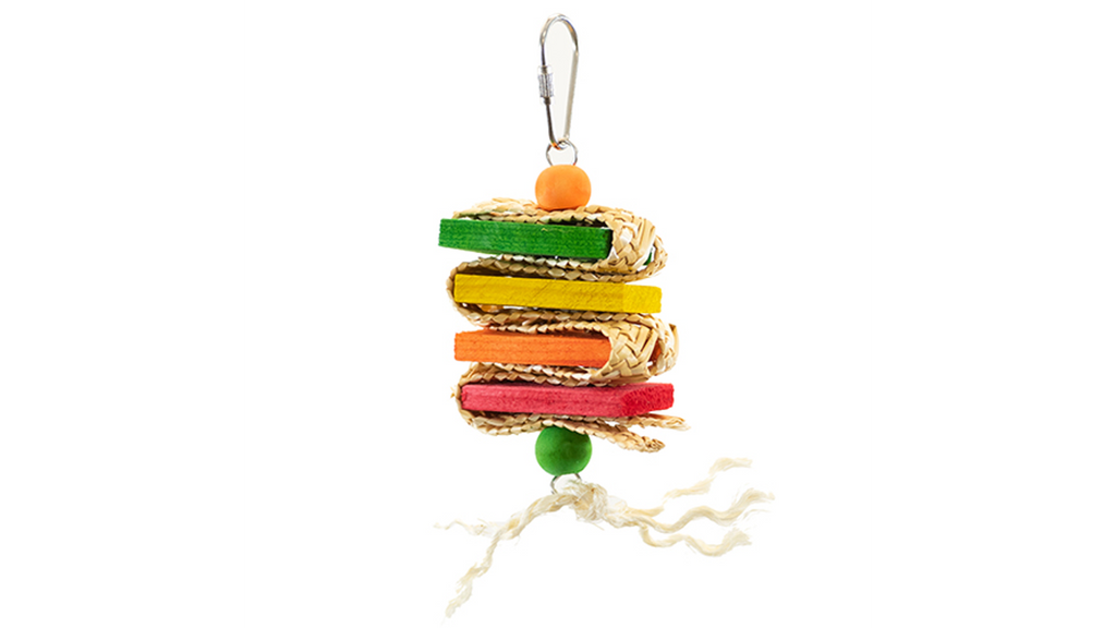 Criss Cross Stacker Budgie Activity Toy