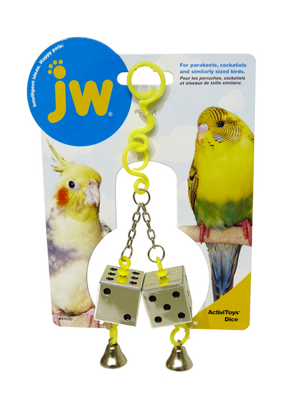 Reflective Dice Budgie Toy