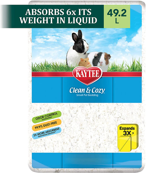 KT Clean & Cozy Bedding White 49.2L for small pets