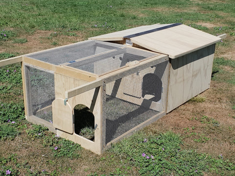Movable Timber Chicken Coop