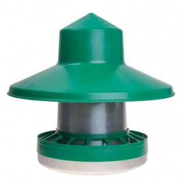 Euro 10kg Poultry Feeder with Rain Hat