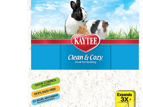 KT Clean & Cozy Bedding White 49.2L for Small Animals