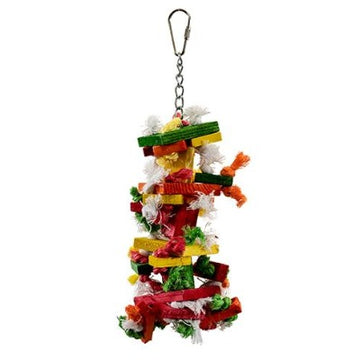 Eco Knots 'n Blocks Cage Toy for Small and Medium Parrots - 25cm
