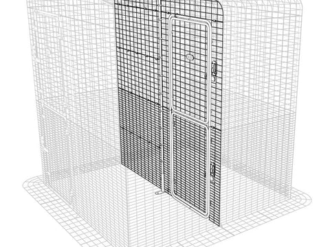 Walk-In Outdoor Pet Run Partition High - 2 Panels