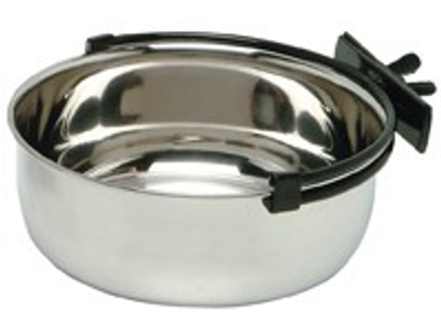 Rabbit Feeding Bowl 600ml -12cm + Secure Clamp