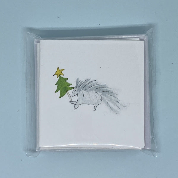 Christmas Porcupine Mini Card 5 Pack