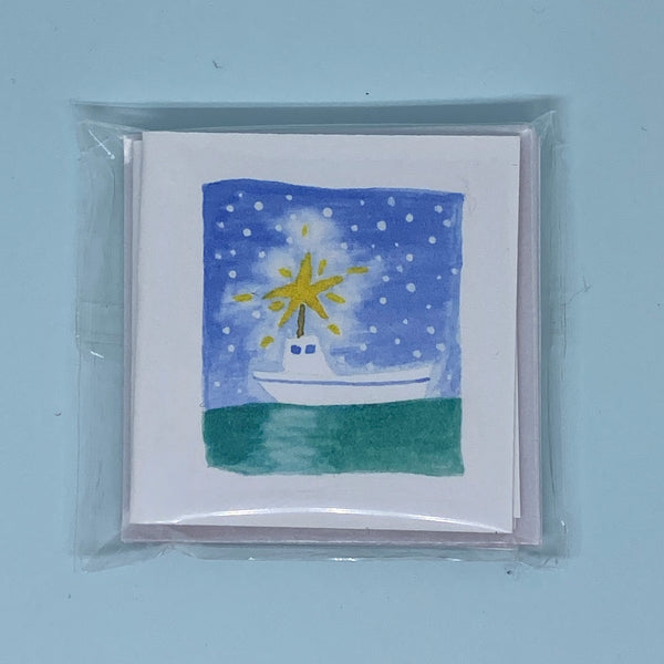 Snowy Sea Star Mini Card 5 Pack