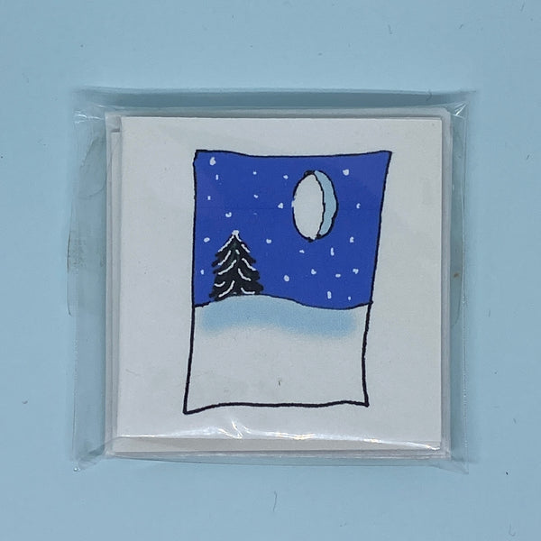 Winter Snow Mini Card 5 Pack