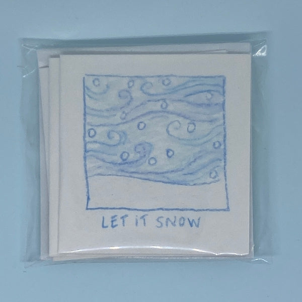 Let it Snow Mini Card 5 Pack