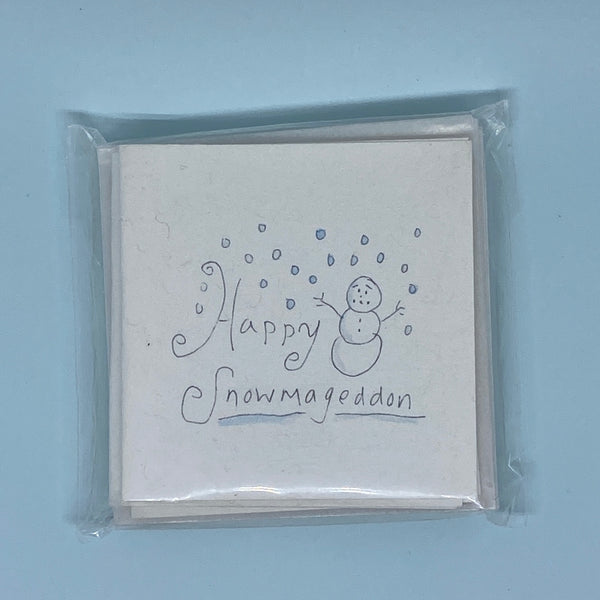 Happy Snowmageddon Mini Card 5 Pack