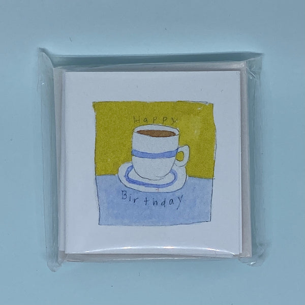 Birthday Coffee Mini Card 5 Pack