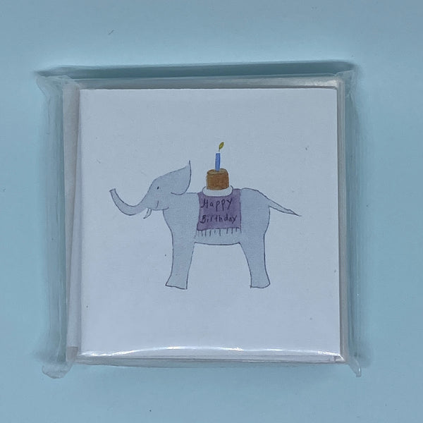 Happy Birthday Elephant Mini Card 5 Pack