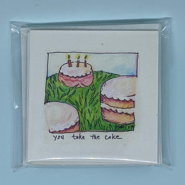 You Take The Cake Mini Card 5 Pack