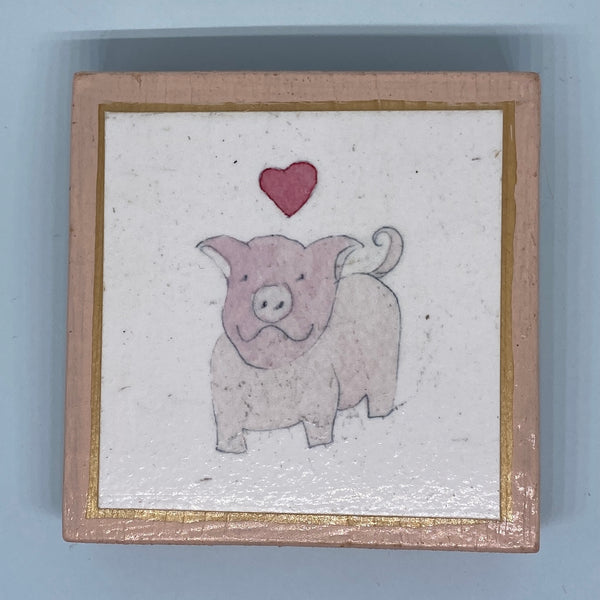 Happy Love Pig Tiny Print