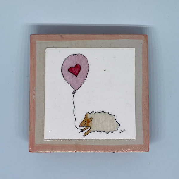Hedgehog & Love Balloon Tiny Print