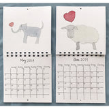 2019 Love Animal Wall Calendar