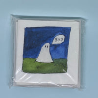 Scary Ghost Mini Card 5 Pack