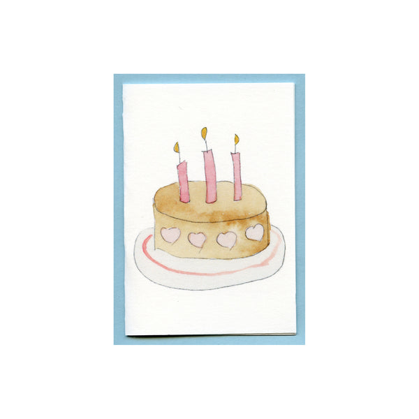 Happy Birthday Heart Cake Enclosure Card