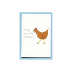 Happy Clucking Birthday Enclosure Card
