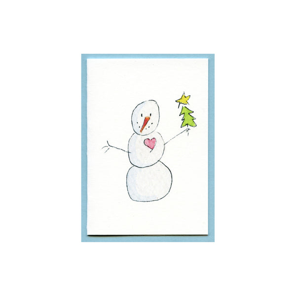 Love Snowman Tree Enclosure Card