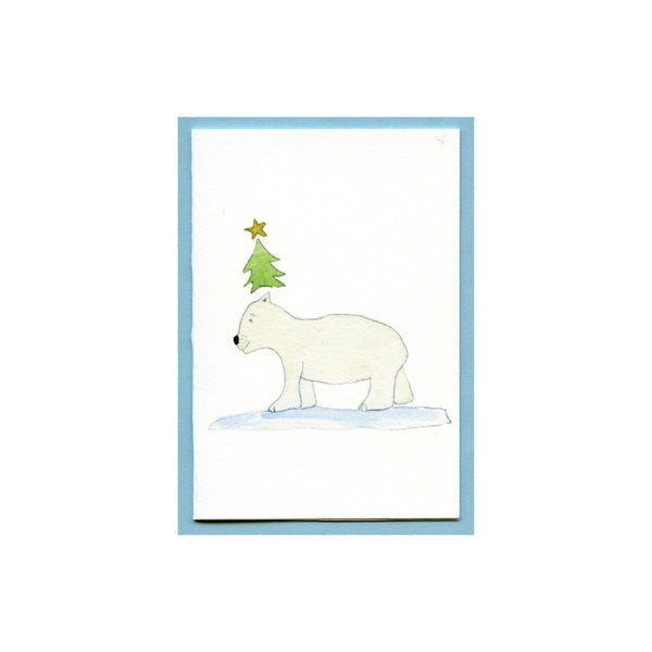 Polar Bear Balsam Tree Enclosure Card
