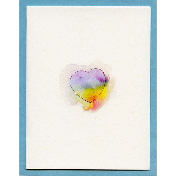 Watery Rainbow Heart