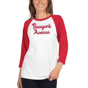 3/4 Sleeve Passyunk Avenue Baseball Tee - Phillies Red