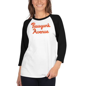 3/4 Sleeve Passyunk Avenue Baseball Tee - Flyers Orange