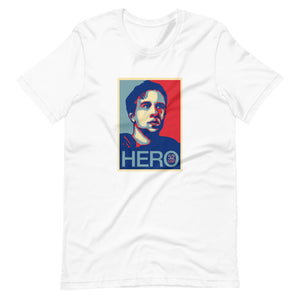 Short-Sleeve Unisex Nick Foles 'HERO' T-Shirt | White
