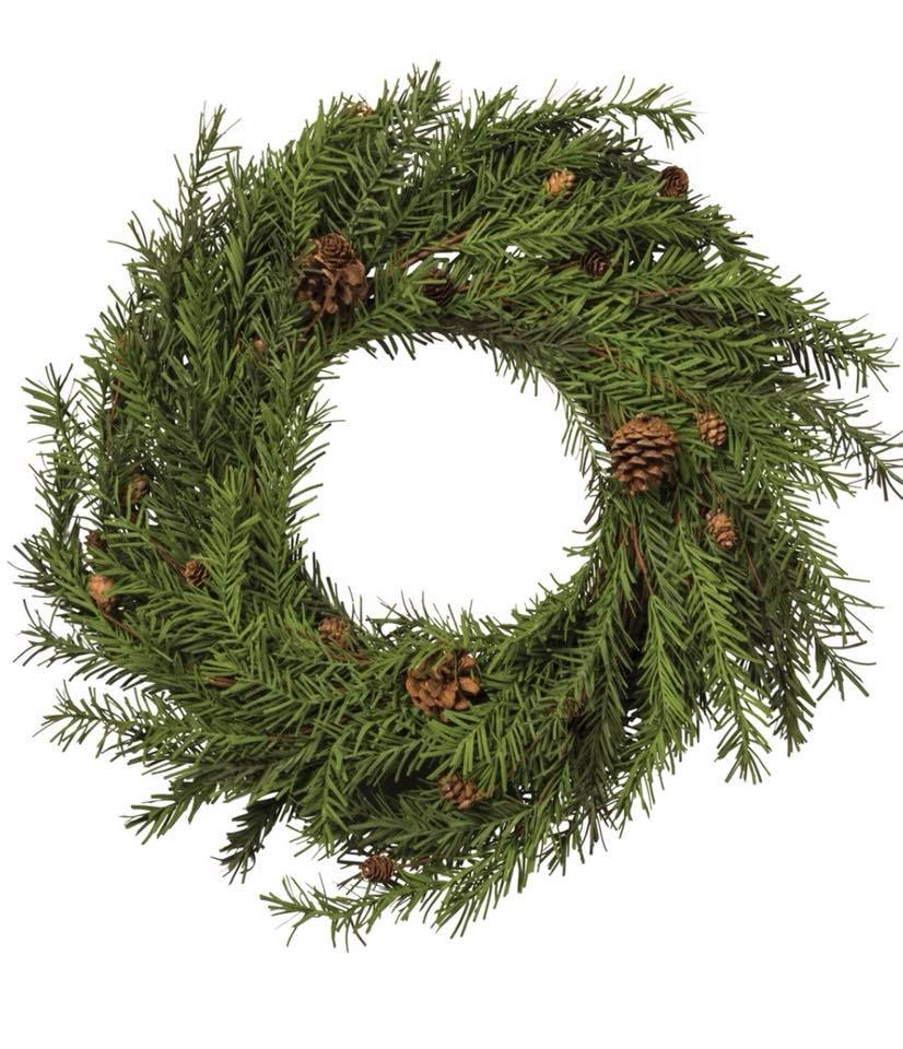 "Wreath - 20"" Pinecone"