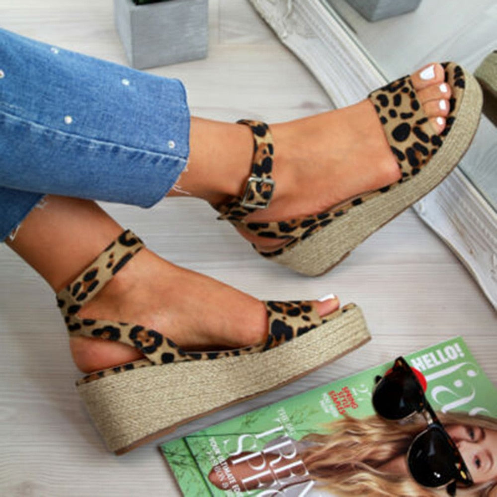 Leopard Women Wedges