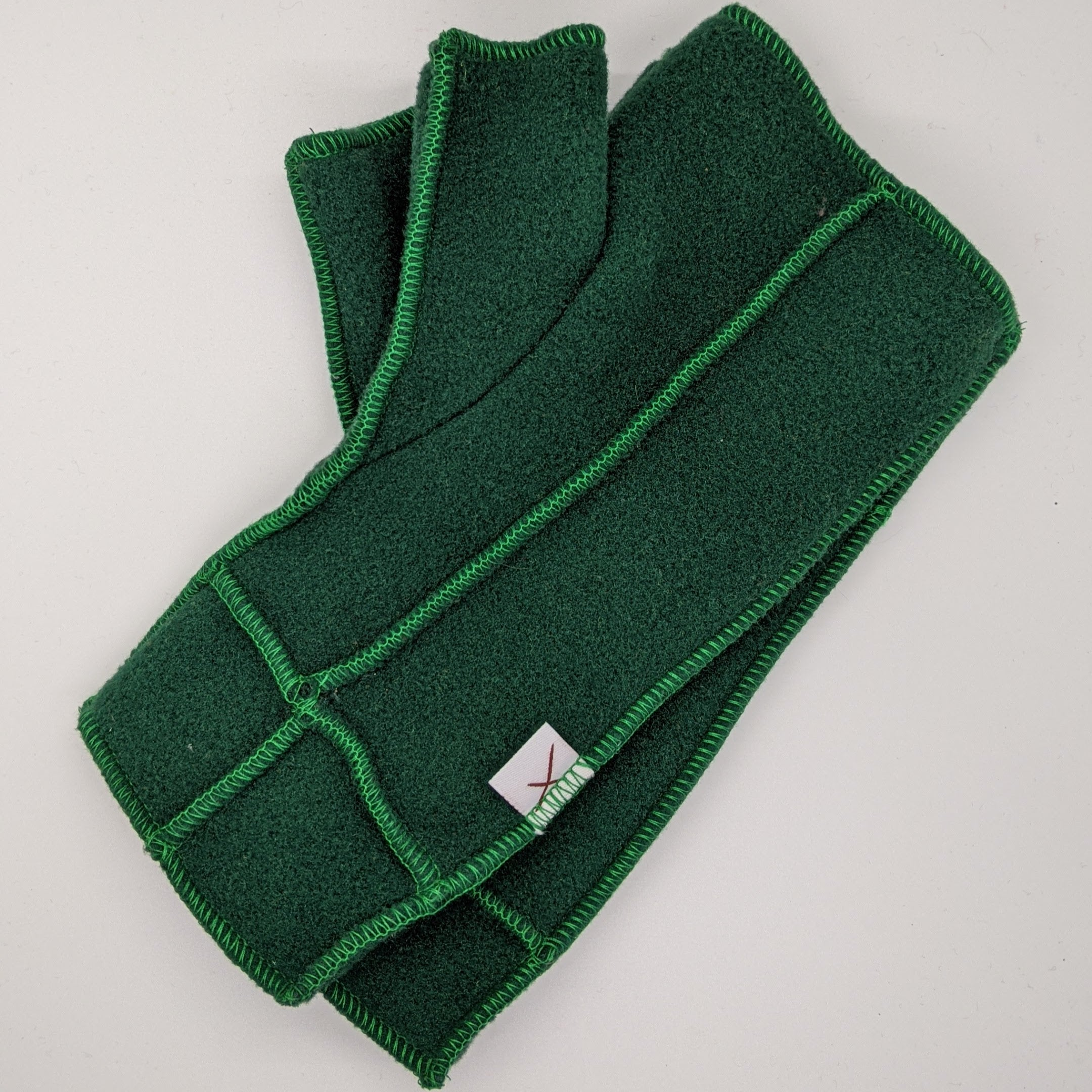 Classic Xmittens: Forest Green with Green Thread
