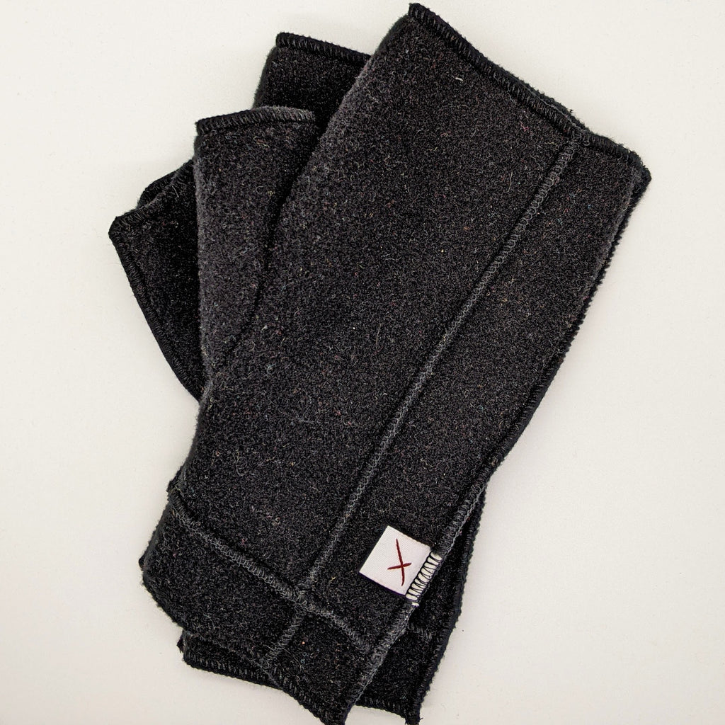 Classic Xmittens: Black with Black Thread