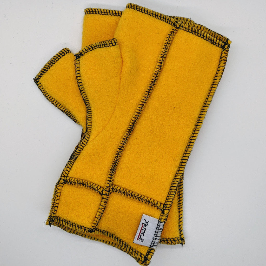 Classic Xmittens: Yellow with Black Thread