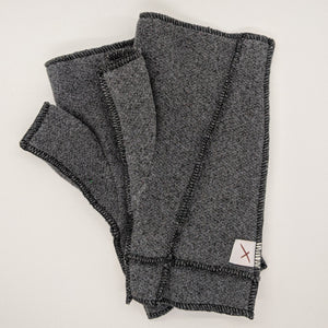 Classic Xmittens: Cool Grey with Black Thread