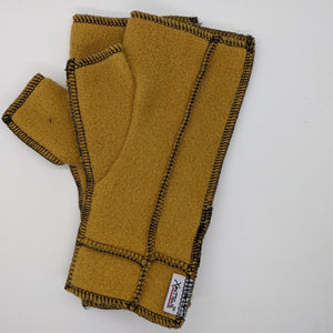 Old Style Logo Xmittens: Dull Gold with Black Thread
