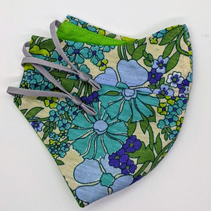 Cornflowers Vintage Fabric Mask